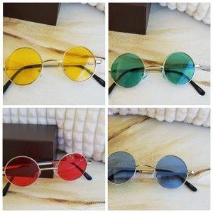 Women Multi-Color Round Sunglasses Golden Frame Gl